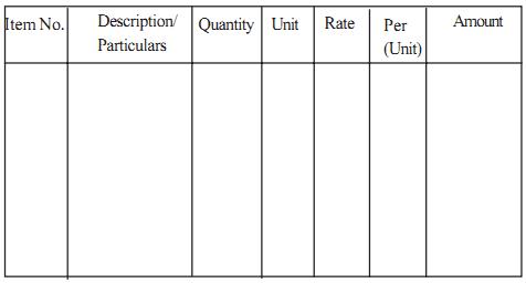 preparation of detailed construction estimate civil engineering